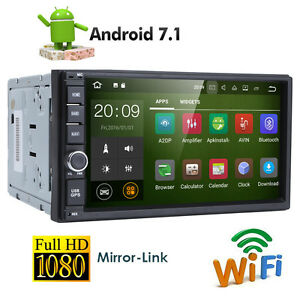 android 7 1 double 2din car stereo radio gps wifi 3g dab. Black Bedroom Furniture Sets. Home Design Ideas