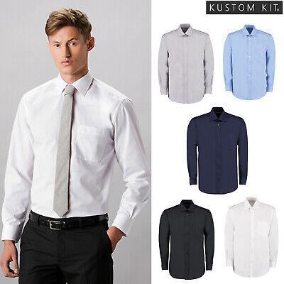 Kustom Kit Men/'s Long Sleeve Business Shirt Formal Office City Work Wear KK104