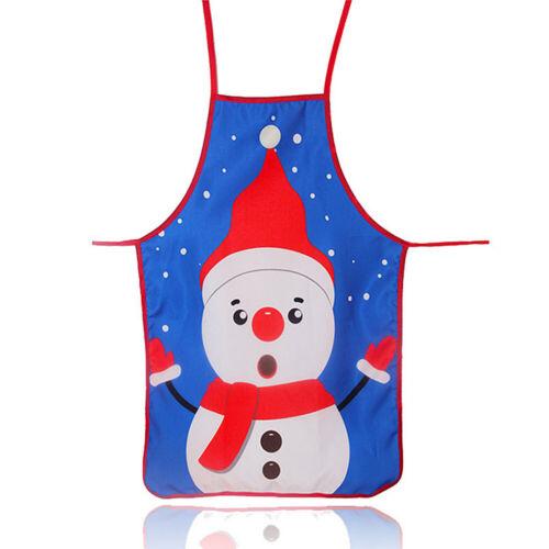 Christmas Apron Snowman Santa Elk Kitchen Linen Textile Gift Xmas Ornament Home