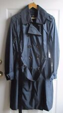 EAST 5TH Rain Coat water resistant - 2X Womens Plus - navy blue removable lining