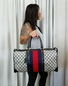 34cabebe747 Vintage Gucci Travel Carry-on Bag GG Monogram HTF 70s Authentic ...