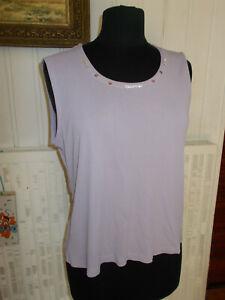 Tee-shirt-debardeur-sans-manches-mauve-strass-au-col-UN-JOUR-AILLEURS-T-3-40-42