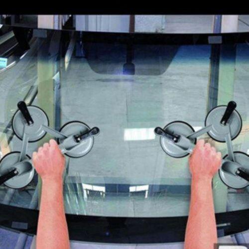 2x Neu Aluminium Saugheber Vakuumheber Glassauger Glasheber Saugnäpfen 120kg DHL