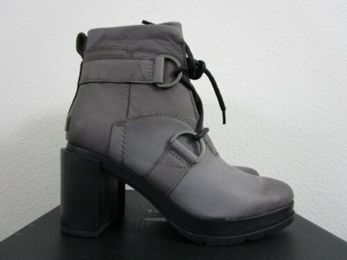 NIB Womens Sorel Margo Lace Wedge Leather Anthropologie Ankle Boots Quarry