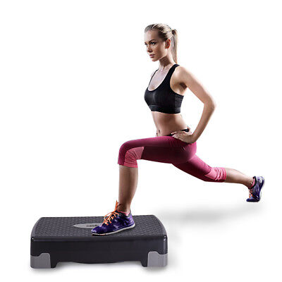 """31/"""" Adjustable Fitness Aerobic Step with Riser Yoga Gym Exercise Equipment Tool"""