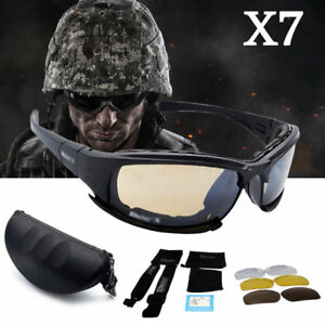 962276ec54 Image is loading Daisy-X7-Polarised-Tactical-Military-Style-Glasses-Goggles-