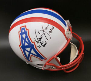11212ba7e Warren Moon SIGNED Houston Oilers F S Helmet + HOF Pro Bowl PSA DNA ...
