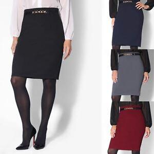 new concept 6fe18 cb9c5 Details zu Damen High Waist Bleistiftrock Eleganter Rock Business Kleidung  Knielang Stretch