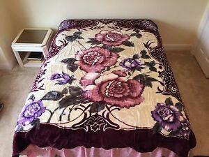 korean mink blanket queen flower design apple brand ebay