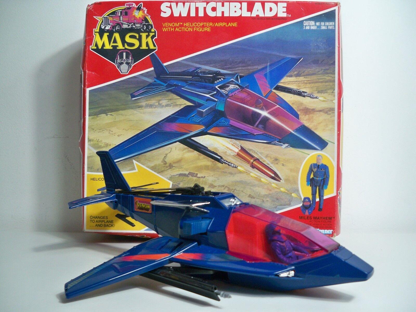 K1805071 SWITCHBLADE W BOX & FIGURE 100% COMPLETE MASK 1985 VINTAGE KENNER