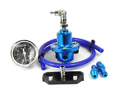 Blue Adjustable Fuel Pressure Regulator & Adapter Impreza GDA WRX 2001-2005