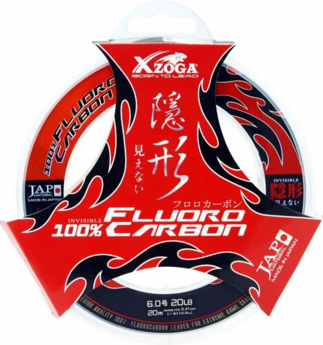 XZOGA /'/'100/% FLUOROCARBON/'/' Leader Line Ultra Strong Invisible 20m Big Game JP