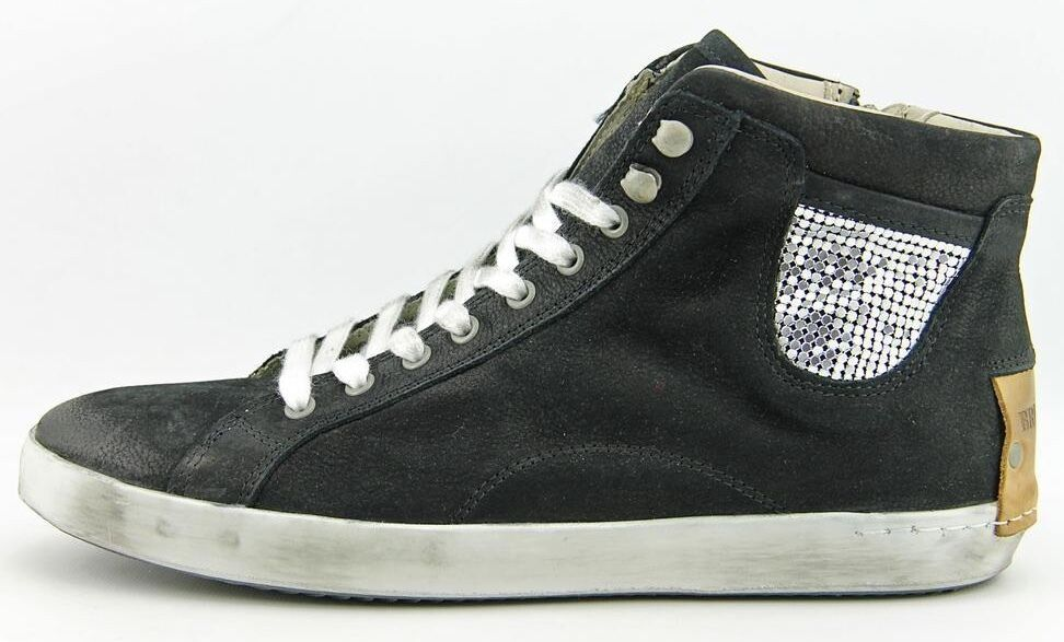 BRUSQUE HIGH TOP SNEAKERS BLACK sz 8.5 NEW AUTHENTIC