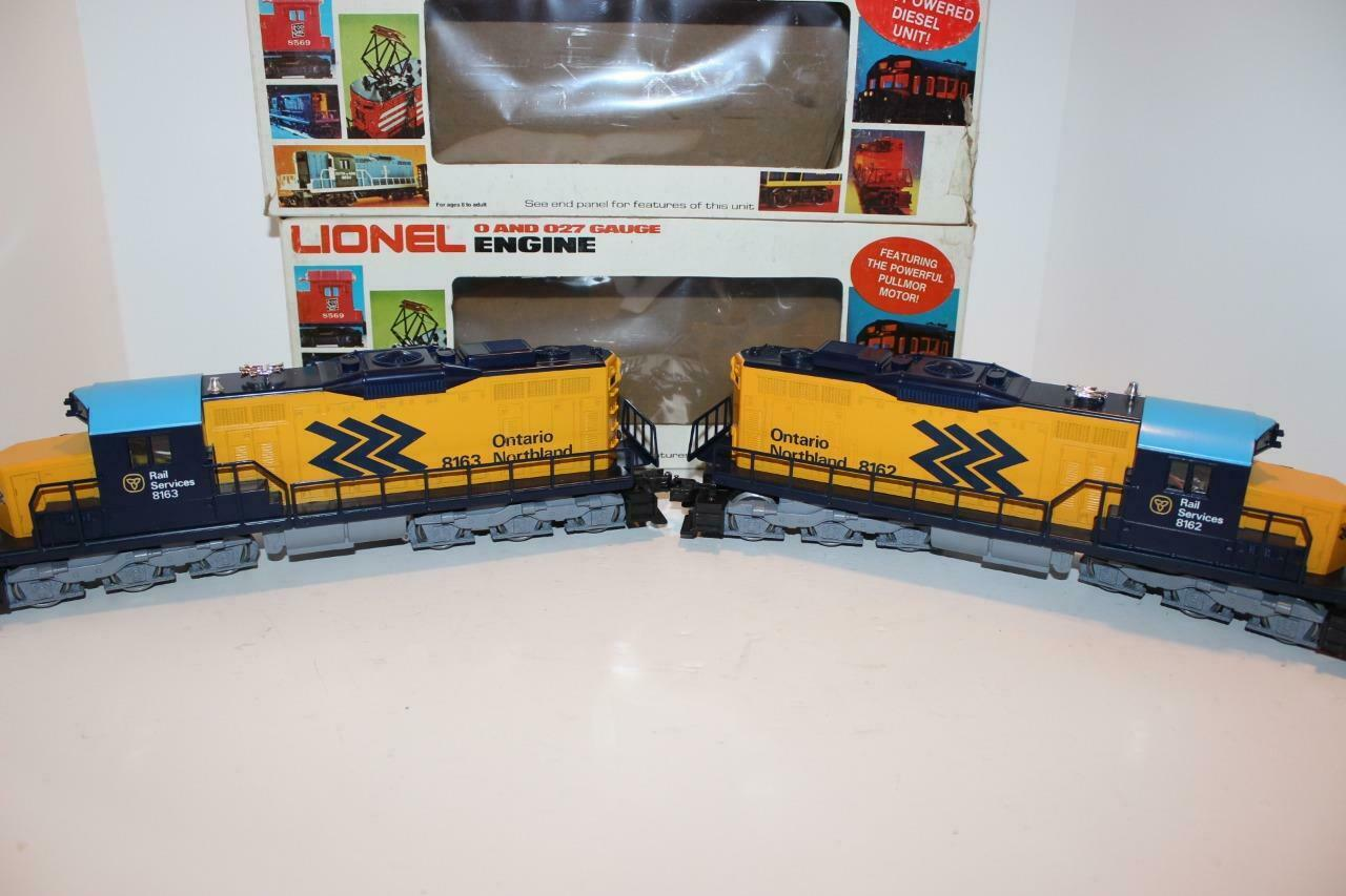 LIONEL MPC- 8162 8163- ONTARIO NORTHERN SD-18 PWD DUMMY SET BOXED  - 0 027 - BR1