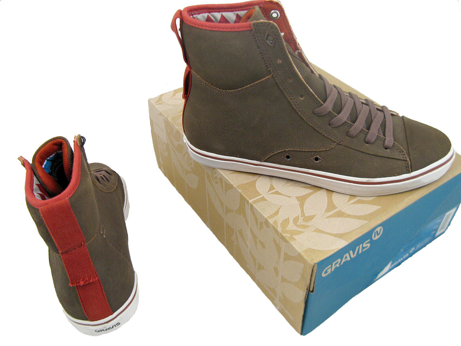 NEW Gravis by Burton Snowboards Hi Top Sneakers (shoes)   Sold in Japan Only