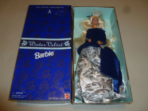 NEW AVON EXCLUSIVE WINTER VELVET BARBIE DOLL SPECIAL EDITION MATTEL 15571 NIB >>
