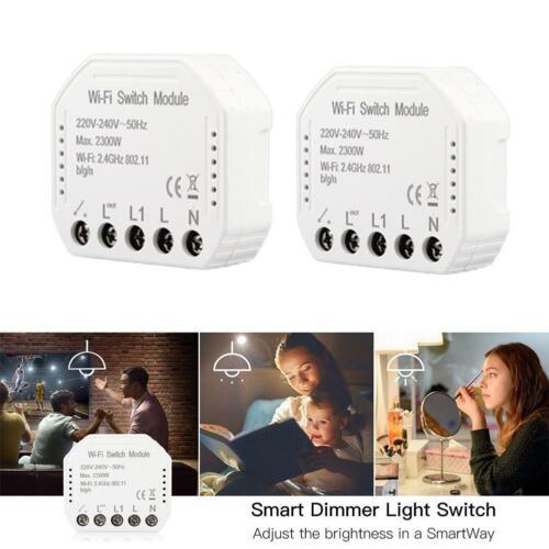 1 2Way Wifi Smart Licht Schalter Breaker Modul Smart Life//Tuya APP Fernbedienung
