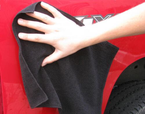 GarageMate 10 Pack Black Microfiber Towel car auto boat truck detailing cloth