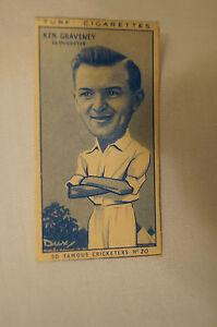 1950-Vintage-Cricket-Card-Carreras-Turf-Slides-Ken-Graveney-Gloucester