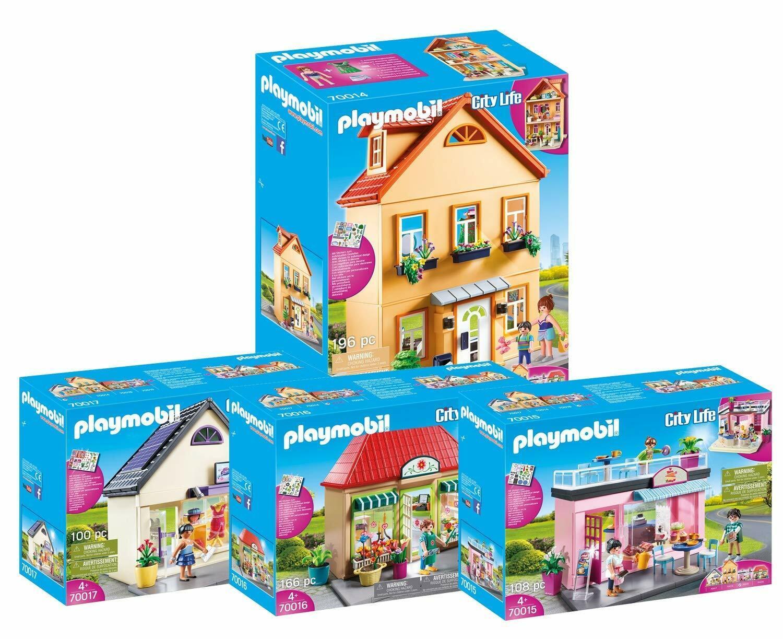 Playmobil 70014-70017 Stadthaus Lieblingscafé Blaumenladen Trendboutique Set NEU