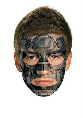 Transformers: Iron Hide Face Temporary Tattoo Makeup No Mask