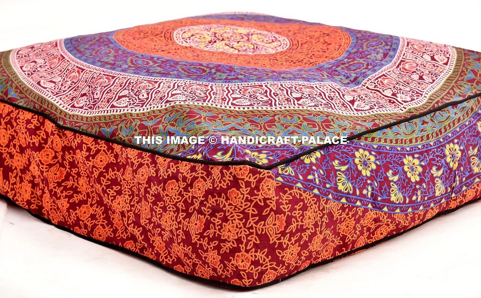 Indian Mandala Pet Bed Dog Mat Mattress Durable Cushion Comfort Square Large 35
