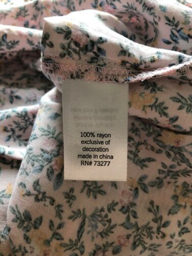 s-Org-27-17 MUDD Shirt Top Juniors Pink Floral Large $36