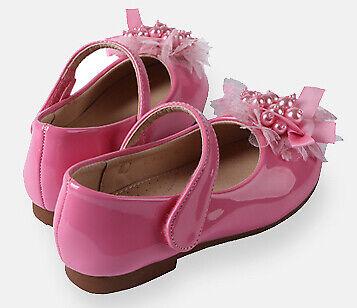 Toddler Girls Kids Glitter Ballet Flat Dress Shoes Unique Design 8-12