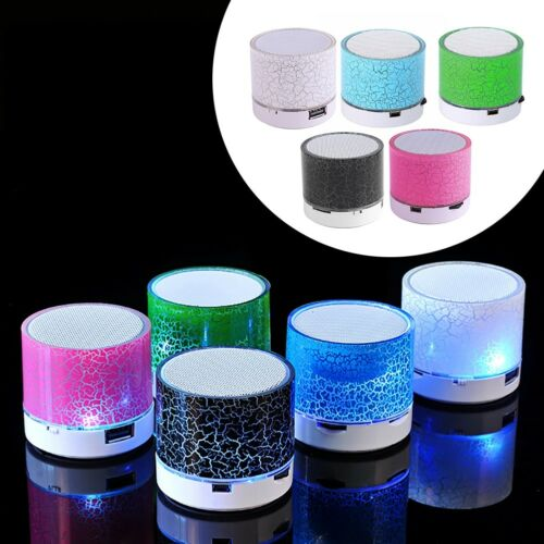 LED MINI Bluetooth MP3 Speaker Subwoofer TF USB Music Sound Wireless Walkman BJ