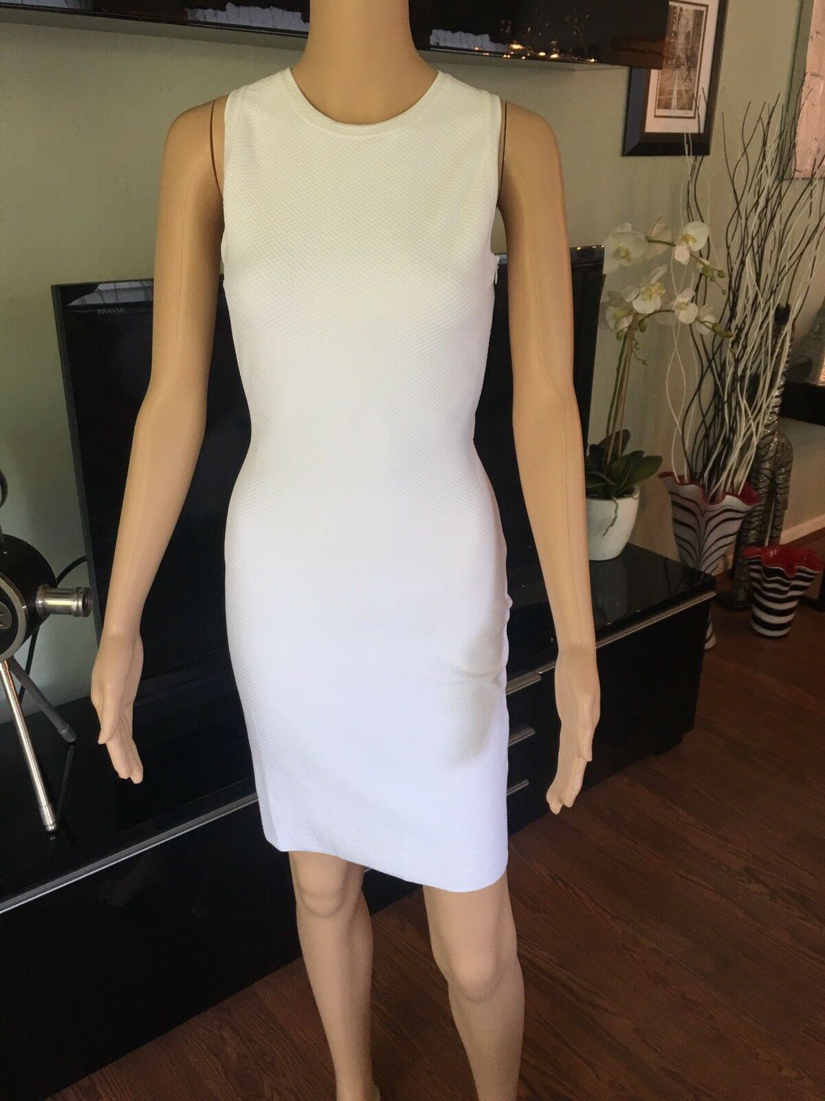 Azzedine Alaia Sexy Fitted Open Back White Dress - image 2