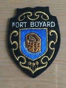 Ecusson blason brodé Fort Boyard années 70