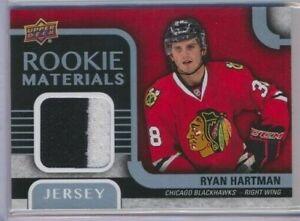 15-16-Upper-Deck-Series-2-Rookie-Materials-Jersey-Ryan-Hartman-Chicago-Blackhawk