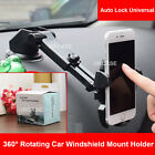 Auto Lock Universal 360° Rotating Car Windshield Mount Holder for Cell Phone GPS