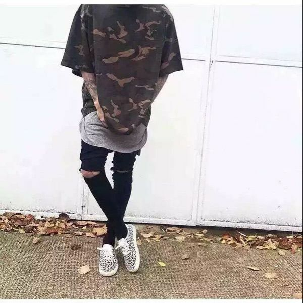 Yeezy ΡποχΞ� 1 Camo OverSize κοντομάνικο μπλουάκι Kanye West 350 750 950 ΟŽΞΈΞ·ΟƒΞ·