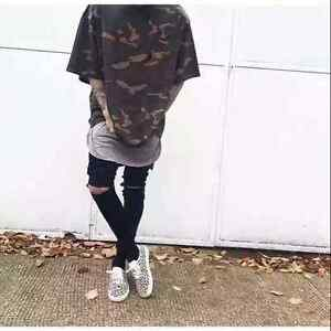 0783b1410c353 Yeezy Season 1 Camo OverSize Short Sleeve T-Shirt Kanye West 350 750 ...