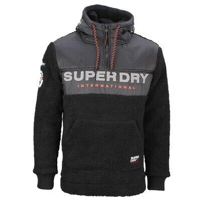 Superdry Herren Sweat Pullover Sherpa Worldwide schwarz M2000037A AZB black | eBay