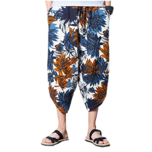 Mens Women Harem Trousers Ali Baba Loose Baggy Hippie Gypsy Hareem Pants Bottoms