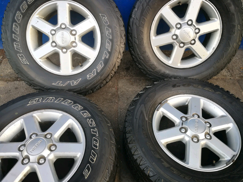 A set of 16 inch mags and tyres for Isuzu bakkie