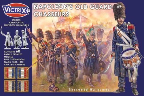28mm French Napoleonic Old Gaurd Chasseurs Victrix Hard Plastic Black Powder