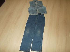 Jeans-KIKSTAR-152-und-Jeans-Weste-152