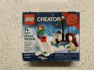 2014 LIMITED EDITION LEGO CREATOR SEASONAL WINTER SKATING SCENE 40107,NEW/&SEALED