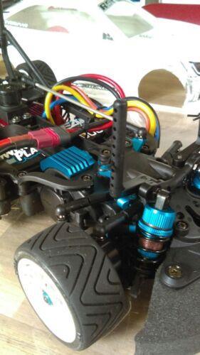 Aluminum Motor Side Heat Sink For Tamiya M07 1:10 RC MINI car Ice Blue