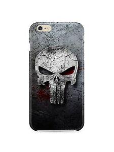 Iphone-4s-5s-5c-6-6S-7-8-X-XS-Max-XR-SE-Plus-Hard-Cover-Case-The-Punisher-Logo