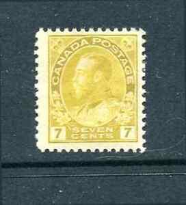 Canada Sc# 113 King George V Mint Hinged 1912  CV $75.00