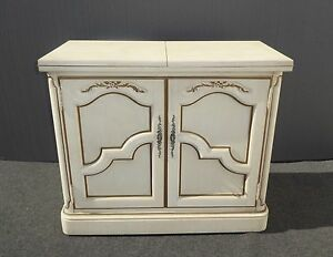 Surprising Details About Vintage Thomasville French Country Side Table Server Buffet Cabinet Fold Out Top Download Free Architecture Designs Scobabritishbridgeorg