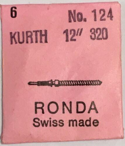 NOS New 6 Pcs Certina Kurth KF 320 Ronda 124 Stem Tija de Remontuar Tige
