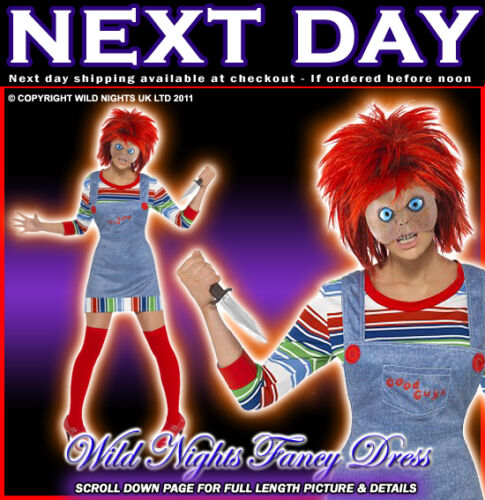 HALLOWEEN FANCY DRESS # LADIES OFFICIAL CHUCKY COSTUME MED 12-14