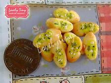 Dollhouse miniature Fruit:4 loose Fresh Banana Brunch4