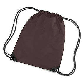 Chocolate Brown Drawstring//Tote//Backpack//PE//Gym//Swim//School Bag