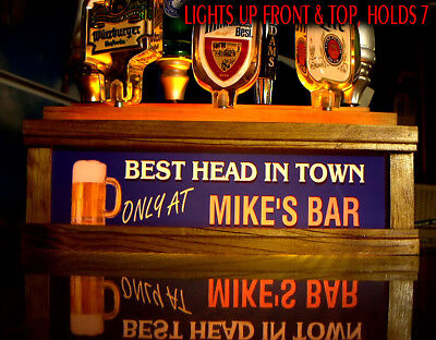 11 BEER TAP HANDLE DISPLAY LED ILLUMINATED  BAR /& GRILL Bar sign PERSONALIZED